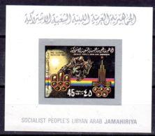 1979;  Jeux Olympiques à Moscou,  Minifeillet De Luxe; Neuf **, Lot 50679 - Libye