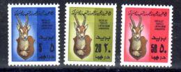 15.1.1979; Jagdtrophäe; Mi-Nr. 701 - 703, Neu **, Los 50685 - Libyen