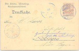 ALLEMAGNE  - CP  WITTENBERGE 18.1.1904 / 1-116 - Brieven En Documenten
