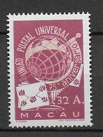 75 ANS UPU - MACAU (CHINA) - 1949 - YVERT N° 337 ** MNH - COTE = 120 EUR. - Macao