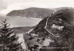 AS08 The Tors & Countisbury Hill, Lynmouth - RPPC - Lynmouth & Lynton