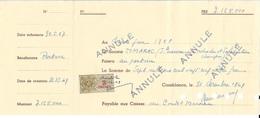 BONS AU PORTEUR DE LA SOCIETE MAROCAINE DE RECHERCHES ET APPLICATIONS CHIMIQUES - CREDIT MAROCAIN - 1949 - ANNULE - Morocco (1956-...)