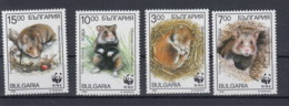 Bulgarien (BBK) Michel Cat.No. Mnh/** 4124/4127 Wwf - Bulgaria