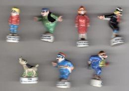 Série  7/10 Fèves Brillantes  BIBI FRICOTIN Vents D'ouest PRIME 1999 - Strips