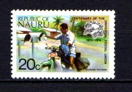 NAURU    1974    Centenary  Of  U P U     20c  Nauruan  Postman    MNH - Nauru