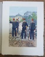 PIERRE ALBERT LEROUX - L'armée Française - Gardes - Belle Planche Rehaussée Aux Coloris - Vers 1930 - 32 Cm * 24 Cm - Livres, Revues & Catalogues