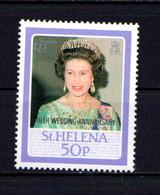 ST  HELENA    1987    Royal  Ruby  Wedding  Overprinted  50p In  U S A  1976    MH - Saint Helena Island