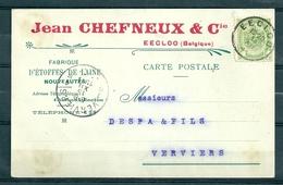 Nr 83 Op Postkaart Gestempeld Van Eecloo Naar Verviers - 14 Dec 1911 - 1893-1907 Armoiries