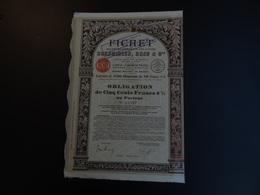 ACTION 1929 FICHET   SIEGE SOCIAL PARIS - Industrie