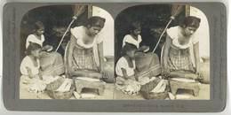 Photo Stéréoscopique : Tortilla Making , Salvador, C.A. - Photos Stéréoscopiques