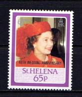 ST  HELENA    1987    Royal  Ruby  Wedding  Overprinted  65p At  Crown  Agents  London    MH - Saint Helena Island