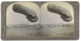 Photo Stéréoscopique : Guerre, War, Ballon Captif / Balloon ( Preparing To Reconnoiter The Ennemy's Position ...) - Photos Stéréoscopiques