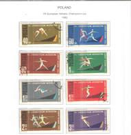 Polonia PO 1962 7 Campionati Europei Atletica   Scott.1079/1086+See Scan On Scott.Page; - 1944-.... République