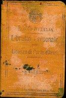 102 LICENZA DI PORTO D'ARMI , REGNO D'ITALIA - Historical Documents