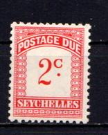 SEYCHELLES    1964    Postage  Due    2c Scarlet  And  Carmine    MNH - Seychelles (1976-...)