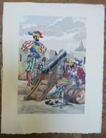 PIERRE ALBERT LEROUX - L'armée Française - Artillerie - Belle Planche Rehaussée Aux Coloris - Vers 1930 - 32 Cm * 24 Cm - Altri