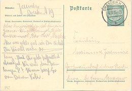 ALLEMAGNE - CP ENTIER POSTAL DRESDEN 6.12.35  / 1-132 - Duitsland