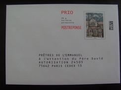 17115- Très Beau PAP Réponse PRIO Abbaye De Pontigny De L'association Prêtres De L'Emmanuel, Agrément 16P055, Neuf - Entiers Postaux