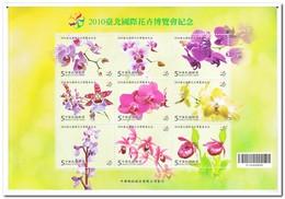 Taiwan 2010, Postfris MNH, Flowers - Ongebruikt