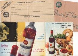 """Enveloppe F.SENECLAUZE """"SEG"""" + Publicités Et Prix Courrants - Alimentaire"""