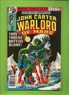 John Carter Warlord Of Mars # 18 - Marvel Comics - In English - November 1978 - TBE - Marvel
