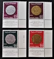 ANCIENES MONNAIES NATIONALES 1968  NEUFS ** - YT 578/81- MI 641/44 - COINS DE FEUILLES - Morocco (1956-...)