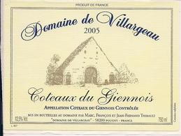 COTEAUX DU GIENNOIS 2005 DOMAINE DE VILLARGEAU (8) - Etiquettes