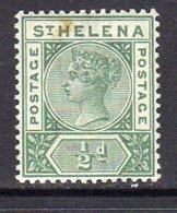St. Helena QV 1890-7 ½d Green Definitive, Wmk. Crown CA, MNH, SG 46 (mark On Front) - Saint Helena Island
