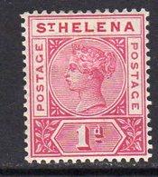St. Helena QV 1890-7 1d Carmine Definitive, Wmk. Crown CA, Hinged Mint, SG 47 - Saint Helena Island
