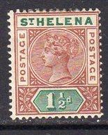 St. Helena QV 1890-7 1½d Red-brown & Green Definitive, Wmk. Crown CA, Hinged Mint, SG 48 - Saint Helena Island