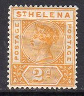 St. Helena QV 1890-7 2d Orange-yellow Definitive, Wmk. Crown CA, Hinged Mint, SG 49 - St. Helena