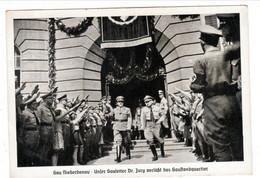 Propaganda Karte, Gau Diederdonau - Unser Gauleiter Dr. Jury Verläßt Das Gaustandquartier - Weltkrieg 1939-45