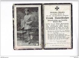 002 - STERBEBILD - LEONH UNTERSTRASSER  -  Gefallen  1918 - 1914-18