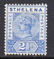 St. Helena QV 1890-7 2½d Ultramarine Definitive, Wmk. Crown CA, Hinged Mint, SG 50 - Saint Helena Island