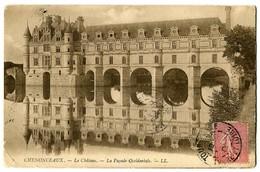 CPA 37 Indre Et Loire Chenonceaux Le Château La Façade Occidentale - Chenonceaux
