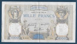 France - Billet De 1000 F  Cérès Et Mercure  Du  23  Mai  1940 - 1871-1952 Anciens Francs Circulés Au XXème
