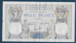 France - Billet De 1000 F  Cérès Et Mercure  Du  3  Novembre  1938 - 1871-1952 Anciens Francs Circulés Au XXème
