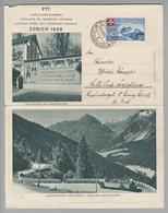 Motiv Landi 1939-08-17 Sils-Maria Landi Kartenbrief Bild Trachtenhof, Malojastrasse - Timbres