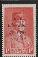 France Libération De Vichy N° 19 Sans Charniére Signé Mayer RRR - Libération
