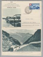 Motiv Landi 1939-08-10 Sils Maria Landi-Kartenbrief Bild Bierhaus + Alpenpost Nach Halle DE - Timbres