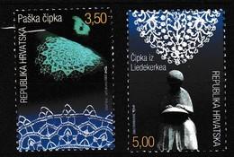 Gezamelijke Uitgifte Met BELGIE  /  Kantwerk Oa LEMBEEK / Nrs 584 é 85 - Croatie
