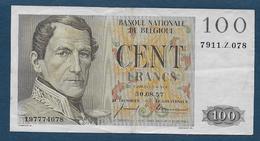 Belgique - Billet  De 100 F  Du 30. 08. 57 - [ 2] 1831-... : Royaume De Belgique