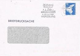 30586. Carta Drucksache, Impresos WURZBURG (Alemania Federal) 1987. KILIANI Volksfest - [7] República Federal