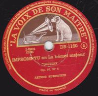 78 Trs - 30 Cm - Etat TB - ARTHUR RUBINSTEIN - IMPROMPTU En La Bémol Majeur SCHUBERT - VALSE En La Bémol Majeur CHOPIN - 78 T - Disques Pour Gramophone