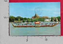 CARTOLINA VG THAILANDIA - BANGKOK - Thai Royal Barge Called Supanna Hongse Passing The Grand Palace - 9 X 14 - ANN. 1979 - Tailandia