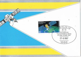 30587. Tarjeta Triptico BERLIN (Alemania Federal) 1987. FUNKAUSTELLUNG Internationale - [7] República Federal