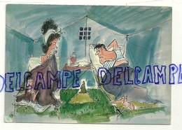 Humour Camping. Taupe Qui Sort Au Milieu De La Tente. Ed. Perrochet - Humour
