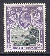 St. Helena EVII 1903 2/- Black & Violet Definitive, Wmk. Crown CC, Lightly Hinged Mint, SG 60 - Saint Helena Island