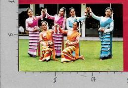 CARTOLINA VG THAILANDIA - The Most Beautiful Young Girls Of North Thailand Dancing - 9 X 14 - ANN. 19?? - Tailandia