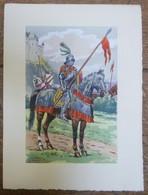 PIERRE ALBERT LEROUX - L'armée Française - Cavalier - Belle Planche Rehaussée Aux Coloris - Vers 1930 - 32 Cm * 24 Cm - Altri